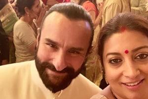 Who knew Smriti Irani and Saif Ali Khan have a history together?