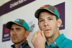 File image of Australian skipper Tim Paine and Justin Langer