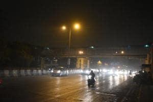 Many areas of Delhi received light rain on Wednesday evening.