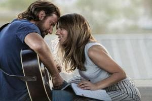 This image released by Warner Bros. Pictures shows Bradley Cooper, left, and Lady Gaga in a scene from A Star is Born. The cast was nominated for a SAG Award for best ensemble.