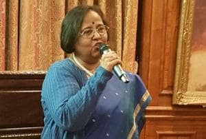 Ruchi Ghanshyam (pictured) succeeds YK Sinha as India's high commissioner to the United Kingdom. She was secretary (west) in the ministry of external affairs before taking up the post in London.