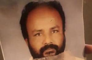 A photo of Venugopalan Nair, who died of burns, after setting himself ablaze near the venue of BJP's protest against Kerala government's stand onSabarimala, in Thiruvanthapuram