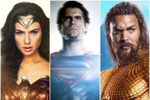 Gal Gadot, Henry Cavill and Jason Momoa as Wonder Woman, Superman and Aquaman in the DCEU.