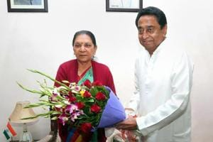 Madhya Pradesh CM-designate Kamal Nath meets governor Anandiben Patel who invited him to form the new government in the state.