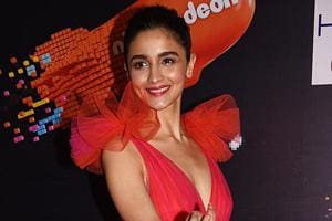 Alia Bhatt poses for photographs at the annual Nickelodeon Kids