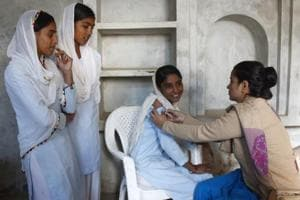 The Measles-Rubella (MR) vaccination campaign aimed to cover approximately 74 lakh children in Haryana between the ages of nine months and 15 years. It ran for eight weeks. By the time it came to an end, 99.01% of the state target was achieved.