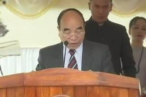 Mizo National Front (MNF) leader Zoramthanga was on Saturday sworn in as Mizoram's new chief minister.