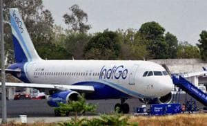An IndiGo flight from Mumbai to Lucknow via Delhi was grounded Saturday after a bomb threat call, airport sources said.