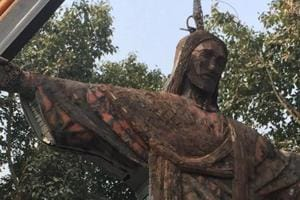 A statue of Christ the Redeemer at the SDMC park
