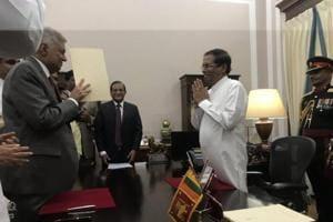 Ranil Wickremesinghe sworn in as the prime minister of Sri Lanka by President Maithripala Sirisena