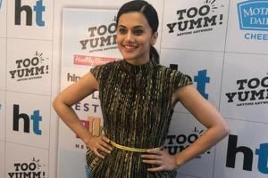 Taapsee Pannu in Delhi for the HT Palate Fest 2018