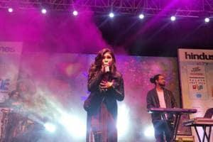 Tulsi Kumar gave a live music performance at Hindustan Times Palate Fest.