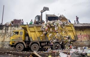 The people are to be blamed to a large extent when it comes to littering of garbage, traffic indiscipline, and breaking queues. (In pic) Kothrud garbage dumping yard in Pune.