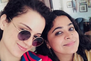 Kangana Ranaut and Ashwiny Iyer Tiwari pose on the sets of Panga.