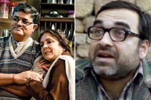 (Left) Gajraj Rao and Neena Gupta in Badhaai Ho and Pankaj Tripathi in Stree.