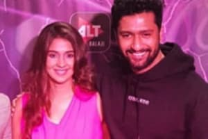 Vicky Kaushal and Harleen Sethi at the launch of AltBalaji's web series, Broken.