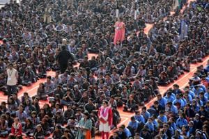 The event was attended by students of Kendriya Vidyalaya, Tingarenagar. At least 1,700 people including adolescent girls, boys, men and women were present under one roof.