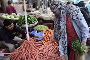 Twelve trucks of carrots arrived from Rajasthan on Sunday.