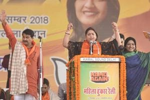 Ahead of the polls next year, BJP workers were asked to spread word of the Central government's schemes at the party's Hunkar rally in New Delhi on Sunday, December 16, 2018.