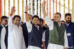 Kamal Nath took oath as Madhya Pradesh Chief Minister in the presence of top Congress and opposition leaders.