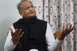 CM Ashok Gehlot during an interview with Hindustan Times, in Jaipur, Rajasthan, India, 16 December 2018.