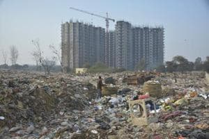 The dumping ground near Shakti Khand has been an eyesore for locals who have demanded shifting of the site.