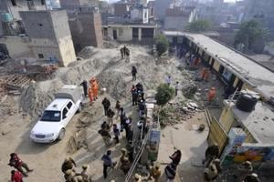 Two children were killed after the boundary wall of a private school in Noida's Salarpur village collapsed on Monday  December 17, 2018.