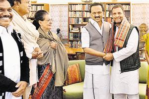 MK Stalin is not in the running. So for him to champion Rahul Gandhi's cause is easy