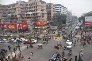 The Kavi Guru Ravindra chowk, polpularly known as Dak Bungalow chowk in Patna