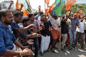 The Sabarimala issue sparked widespread protests across Kerala and the state witnessed three shutdowns in two months.