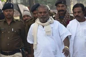 Convicted suspended RJD leader Raj Ballabh Yadav coming from court after the Civil Court sentenced him to life imprisonment in connection with the raping a minor girl, in Patna.Bihar India on Friday Dec21,2018