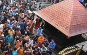 Though the women, part of an outfit called Maniti, arrived at Sabarimala with heavy police protection, the devotees converged in no time, blocking them at Pambha base camp.