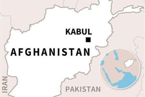 Map locating Kabul in Afghanistan
