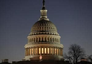 The U.S. Capitol is seen as the federal government is in a partial shutdown as Republicans and Democrats can