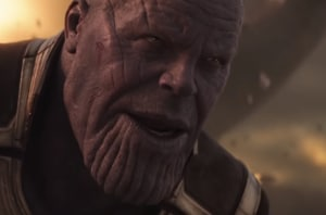 Josh Brolin plays Thanos through motion capture in a still from Avengers: Infinity War.