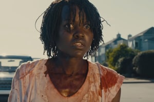 Lupita Nyong'o in a still from the Us trailer.