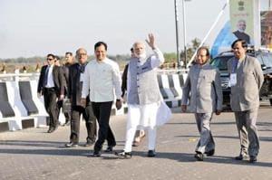 Prime Minister Narendra Modi today inaugurated the Bogibeel bridge, India's longest rail-cum-road bridge, connecting Assam's Dibrugarh on the south bank to Dehamji in the north.