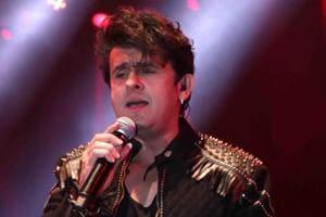 Singer Sonu Nigam performs at a concert in Kolkata.