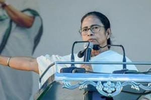 Cooch Behar: West Bengal Chief Minister Mamata Banerjee addresses during a government programme, in Cooch Behar, Tuesday, Oct 30, 2018. (PTI Photo) (PTI10_30_2018_000101B)