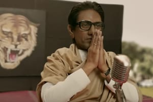 Nawazuddin Siddiqui as Bal Thackeray in a still from Thackeray trailer.