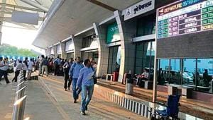 Pune airport registered the third highest growth percentage in passenger flow in 2017-18.
