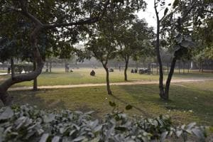 A view of public park at Sector 58, in Noida, India, December 25, 2018. Police in Sector 58 of Uttar Pradesh's Noida have asked companies in the industrial hub to ensure their employees do not use a park for any religious activity, including offering namaz on Fridays.