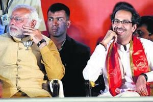 The BJP and Shiv Sena came together after the election to form the government in Maharashtra, but the relationship has remained strained.