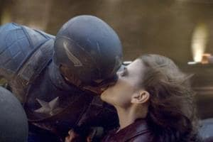 Steve Rogers and Peggy Carter in a still from Captain America: The First Avenger.