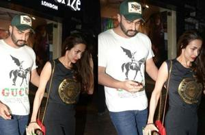 Actor Arjun Kapoor and Malaika Arora were spotted out on a date.