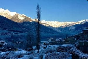 Several places in Himachal Pradesh, including Manali (in picture) and Kalpa, witnessed fresh snowfall on Wednesday night