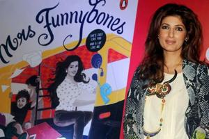 Twinkle Khanna poses for a photograph during the launch of her book Miss Funnybones in Mumbai in 2015.