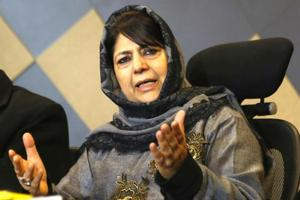 """Former Jammu and Kashmir chief minister and Peoples Democratic Party (PDP)chief Mehbooba Mufti has questioned the arrests of 10 suspected members of an Islamic State-inspired terror module, saying it seems """"premature"""" (File Photo)"""