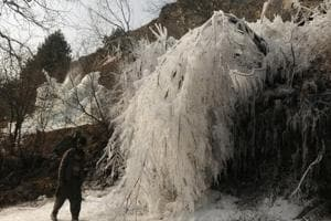 Record-breaking cold continued on Friday in both Jammu and Srinagar cities as intense cold wave lashed Jammu and Kashmir.