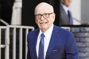 Media mogul Rupert Murdoch leaves his home in London, Britain on March 4, 2016.